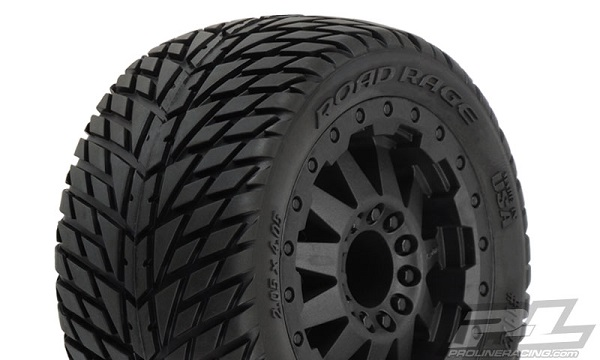 Pro-Line Road Rage 2.8 (Traxxas Style Bead) All Terrain Mounted Tires  (1)