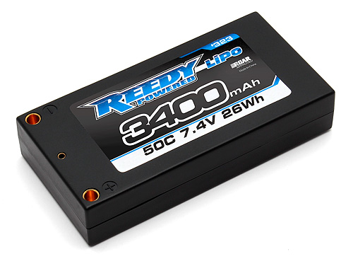 Reedy 3400mAh 50C 7.4V Low-Profile Shorty LiPo
