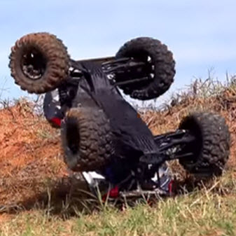 Here's How the Traxxas X-Maxx Flips Itself Back Over [VIDEO]