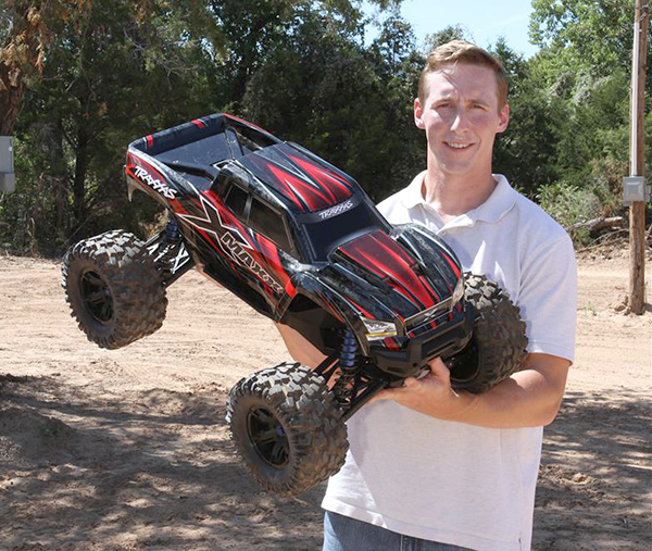 Traxxas X-Maxx size compared to guy
