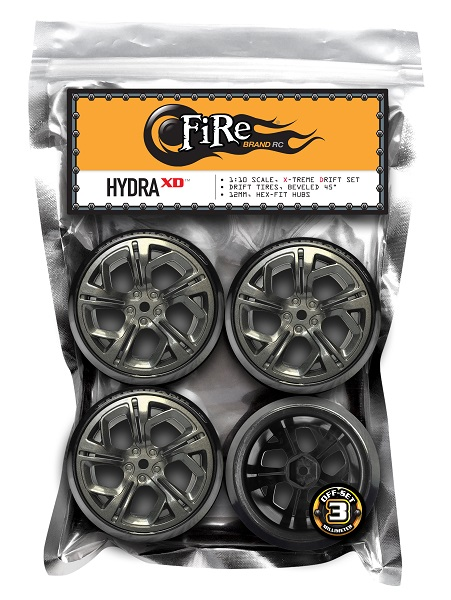 FireBrand RC Hydra-XD On-Road Drift Wheels And Blade Beveled Drift Tires (3)