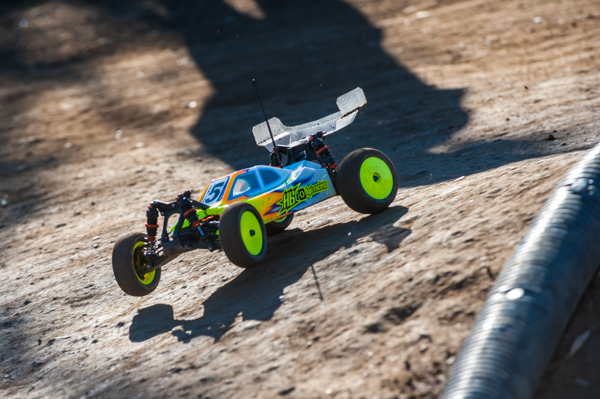 HB/HPI's Drew Moller turned his misfortune in to TQ in 4WD Open buggy.