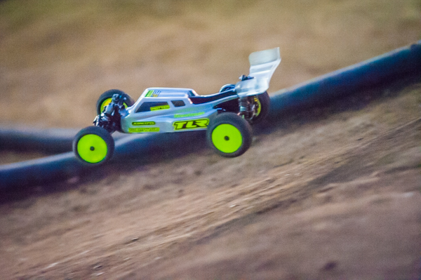 Kevin Motter came out swinging and took TQ with his TLR 22 3.0 in the first two rounds.