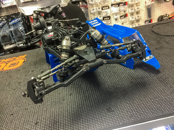 The front of the buggy shows major changes including new front arms with unmistakeable looks that have functional design.