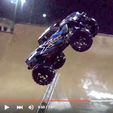 Watch an X-Maxx Shred a Skatepark. At Night. In the Rain. What? [VIDEO]