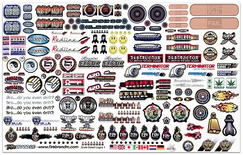 FireBrand RC Sponsor Logos 1A Decal Sheet To Complete That Scale Look