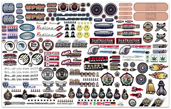 FireBrand RC Sponsor Logos 1A Decal Sheet (1)