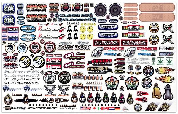 FireBrand RC Sponsor Logos 1A Decal Sheet (1)