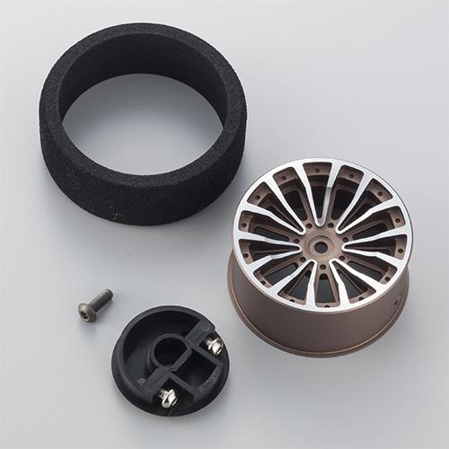 KO PROPO Optional Black And Gun Metal Aluminum Steering Wheels (1)