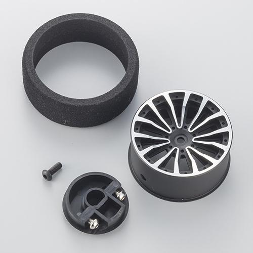 KO PROPO Optional Black And Gun Metal Aluminum Steering Wheels (2)