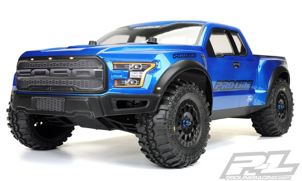 Pro-Line 2017 Ford F-150 Raptor True Scale Clear SC Body (6)