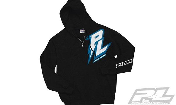 Pro-Line Bolt Black Zip-Up Hoodie, Bolt Blue T-Shirt, And Script Black T-Shirt (2)