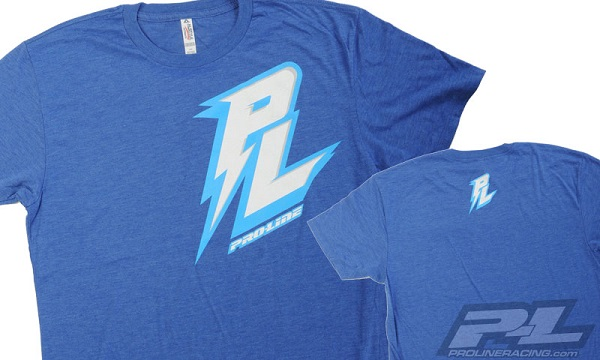 Pro-Line Bolt Black Zip-Up Hoodie, Bolt Blue T-Shirt, And Script Black T-Shirt (3)