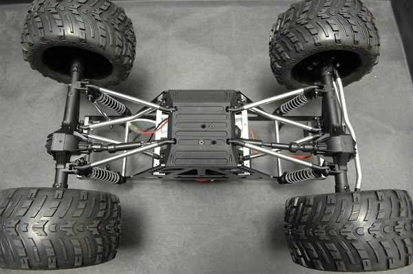 ST Racing Concepts CNC Machined Aluminum Monster Truck Racing Chassis Kit For The Axial Wraith (3)