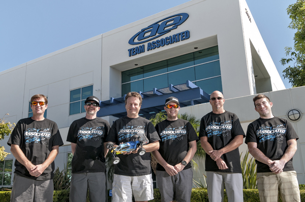 The Team Associated Engineering Team (left to right): Josh Anderson, Bob Stellflue, Cliff Lett, Kody Numedahl, Curtis Husting, and Tim Tunnermann