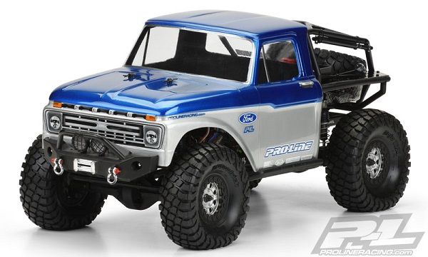 1966 Ford F-100 Clear Body for SCX10 Trail Honch (1)