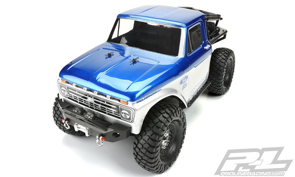 1966 Ford F-100 Clear Body for SCX10 Trail Honch (5)