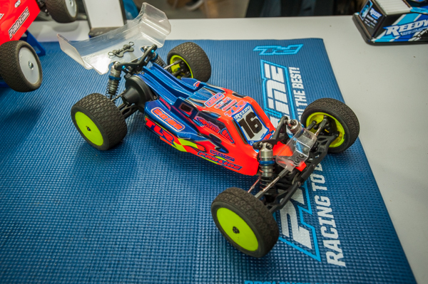 Pro-Line is at the event an have a couple of new tuning options for racers. One of the hot items is a front wing and Pro-Line's take on the little downforce wonder