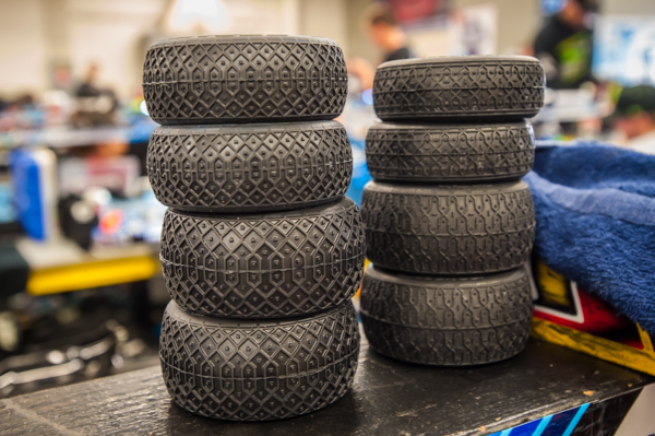 Pro-Line Electrons are used as the control tire for the 4WD class with JConcept Dirt Webs used for 2WD.