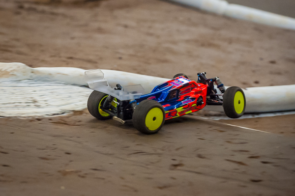 TLR's Dakotah Phend is among the invite drivers and uses the controlled practice to break in tires and find the fastest line around the track.