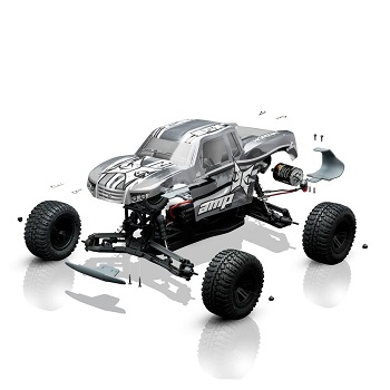 ECX AMP 1/10 2WD Monster Truck BTD (Build-To-Drive) Kit [WITH VIDEO]