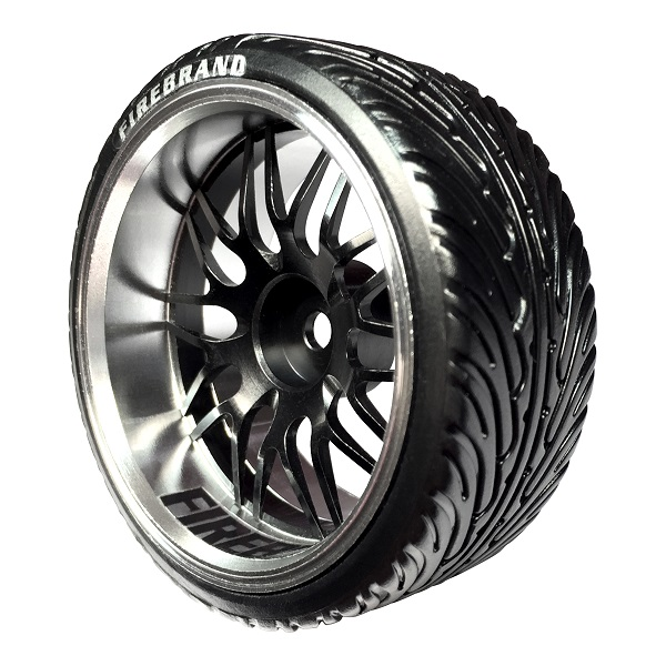 FireBrandRC DARKMATTER-DTM Aluminum Wheels And Mowhawk Drift Treads (1)