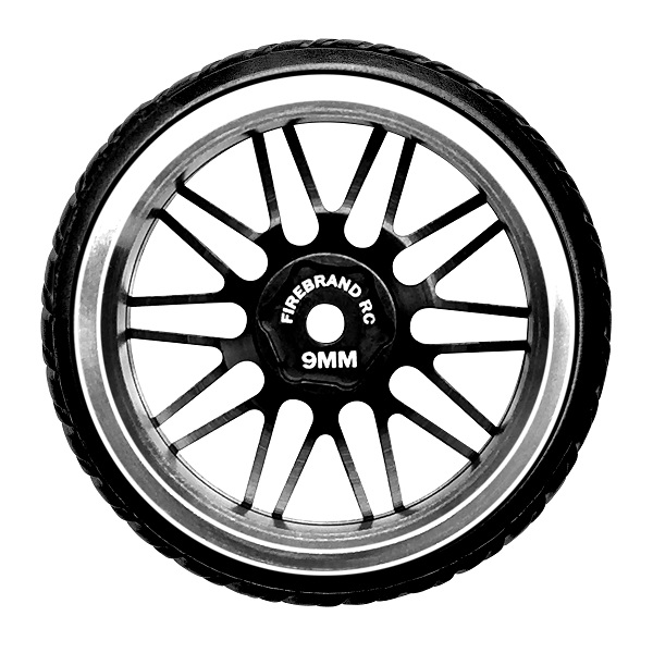 FireBrandRC DARKMATTER-DTM Aluminum Wheels And Mowhawk Drift Treads (4)