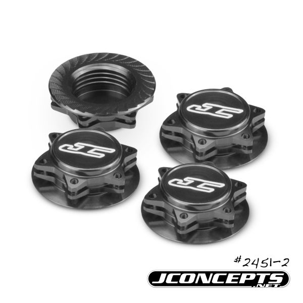 JConcepts Fin 1_8 Serrated Light-Weight Wheel Nuts (2)