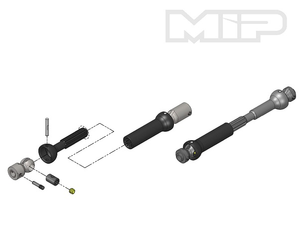 MIP X-Duty CVD Spline Drive Kits For Six Different Axial Vehicles
