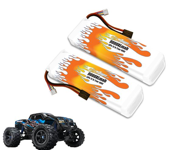 MaxAmps.com 9000XL 3S 11.1v LiPo Pair For The Traxxas X-Maxx
