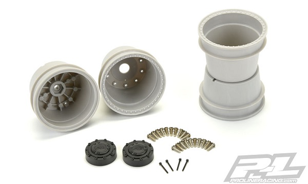 Pro-Line Brawler Clod Buster 2.6 Gray Wheel (Stock And +17.5mm Offset) (3)