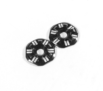 Schelle Asterisk Wing Buttons For 1/10 and 1/8 Buggies Add Some Extra Bling