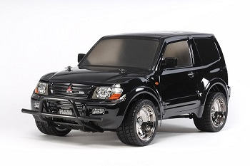 Tamiya 1/10 R/C Mitsubishi Pajero With Custom Lowrider Black Body