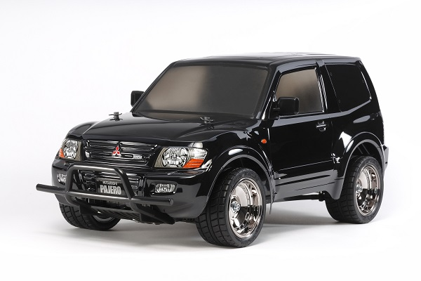Tamiya 1_10 RC Mitsubishi Pajero With Custom Lowrider Black Body