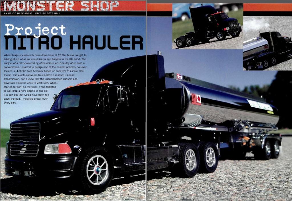Project Nitro Hauler Nitro Tamiya Aeromax