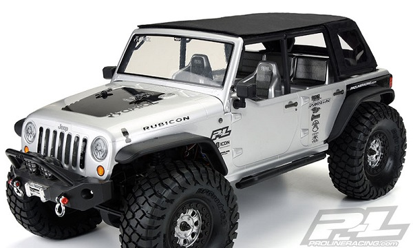 Pro-Line TimberLine Soft-Top For The Axial SCX10 Jeep Wrangler Unlimited Rubicon (4)
