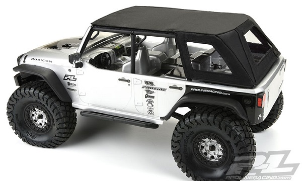 Pro-Line TimberLine Soft-Top For The Axial SCX10 Jeep Wrangler Unlimited Rubicon (5)
