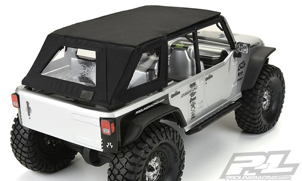 Pro-Line TimberLine Soft-Top For The Axial SCX10 Jeep Wrangler Unlimited Rubicon (6)