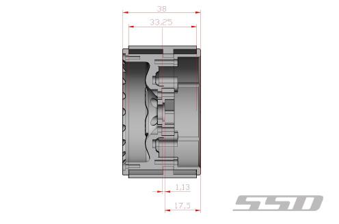 SSD 2.2 Rock Racer Beadlock Black Wheels (4)