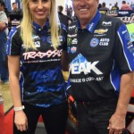 Courtney and John Force are a real force (pun intended) in full-size NHRA racing and were on hand to sign autographs and meet with the fans.
