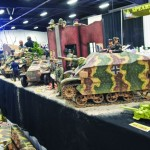 Military vehicles with moving parts.