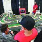 Slot car racing.
