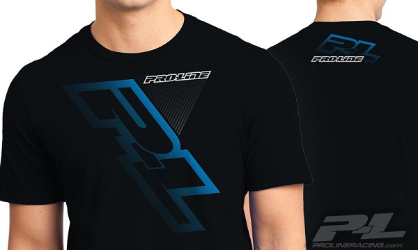 Pro-Line P-L Race Tone Silver And Factory Black T-Shirts (4)