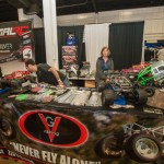 VG Racing showed off their real-steel roll cages and other gear.