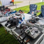 The pits at the race looked like a crazy mixture of Silicon Valley and RC transmitters.