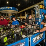 "The large Horizon Hobby booth had lots of bashing and racing products on display including their line-up of TLR racing vehicles that included the newly crowned TLR 22 3.0 that won RC Car Action's prestigious ""Car of the Year"" award."