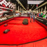 "Traxxas had heir ""try me"" track at the event and gave participants a chance to drive and jump a Traxxas vehicle."