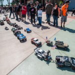 "The Pro-Line parade continued outside as it parted the ""Sea of People"" in slow moving glory."