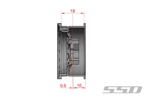 SSD 1.55 Steel D Hole Wheels (4)