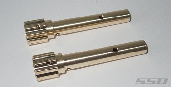 SSD D60 Axle Wide Splined Brass Tubes